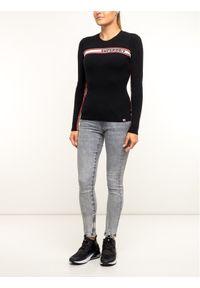 Superdry Sweter W6100027A Czarny Slim Fit. Kolor: czarny