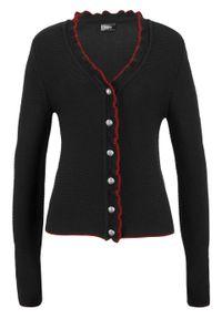 Czarny sweter bonprix z falbankami