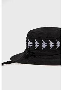 Kappa - Kapelusz. Kolor: czarny. Materiał: poliester, materiał. Wzór: aplikacja #4
