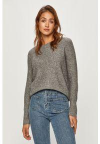 Szary sweter Morgan melanż, długi, z długim rękawem