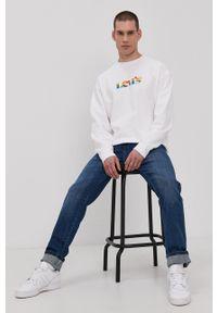 Levi's® - Levi's - Bluza PRIDE. Okazja: na spotkanie biznesowe. Kolor: biały. Wzór: nadruk. Styl: biznesowy