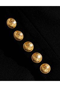 Balmain - BALMAIN - Marynarka ze spiczastymi ramionami. Kolor: czarny. Materiał: wełna, materiał