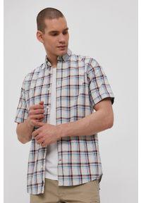 Tom Tailor - Koszula bawełniana. Typ kołnierza: button down. Kolor: szary. Materiał: bawełna. Długość rękawa: krótki rękaw. Długość: krótkie