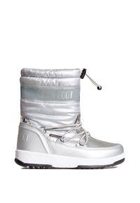 Śniegowce Moon Boot z nadrukiem, glamour, z cholewką