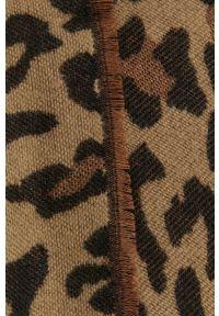 Vila - Poncho. Kolor: brązowy. Materiał: dzianina