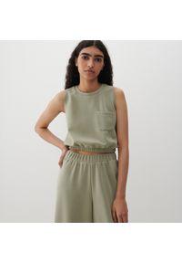Reserved - Bluzka z Tencelu™ Modalu - Khaki. Kolor: brązowy