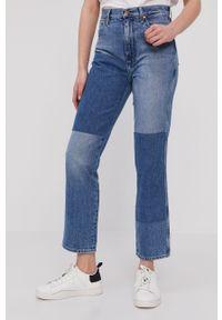 Niebieskie proste jeansy Wrangler z podwyższonym stanem, klasyczne