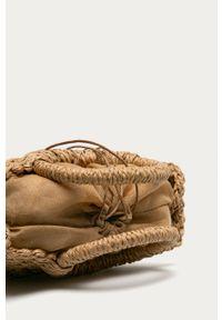 Beżowa torba plażowa ANSWEAR z aplikacjami, mała, na ramię