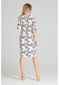 Sukienka Figl asymetryczna, na co dzień, midi