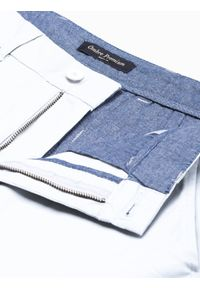 Białe szorty Ombre Clothing krótkie, na lato