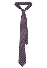 Czerwony krawat Lancerto klasyczny, w kolorowe wzory