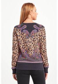 Bluza Versace Jeans Couture z okrągłym kołnierzem, z motywem zwierzęcym, elegancka