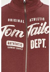 Brązowa bluza rozpinana Tom Tailor casualowa, bez kaptura, z nadrukiem, na co dzień