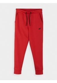 4f - Spodnie dresowe chłopięce (122-164). Kolor: czerwony. Materiał: dresówka