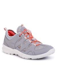 Szare buty trekkingowe ecco trekkingowe, z cholewką