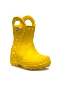 Żółte kalosze Crocs z cholewką