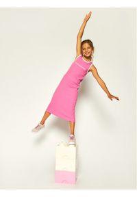 Różowa sukienka Calvin Klein Jeans prosta, casualowa, na co dzień #6