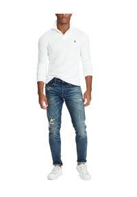 Ralph Lauren - RALPH LAUREN - Koszulka Polo Classic Fit. Typ kołnierza: polo. Kolor: biały. Materiał: bawełna. Długość rękawa: długi rękaw. Długość: długie. Wzór: haft, aplikacja. Styl: klasyczny