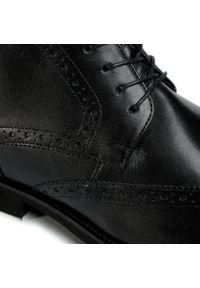 Czarne buty wizytowe Lasocki For Men klasyczne, z cholewką
