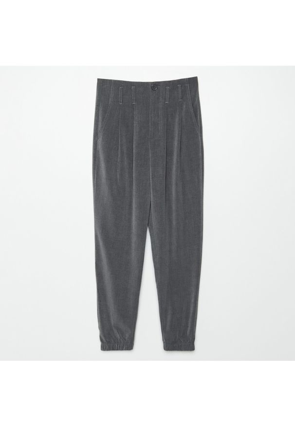 Cropp - Spodnie slouchy - Szary. Kolor: szary