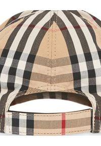 BURBERRY CHILDREN - Czapka z daszkiem w kratę. Kolor: brązowy. Materiał: bawełna. Wzór: aplikacja