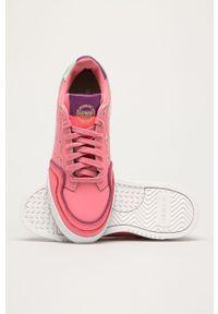 Różowe buty sportowe adidas Originals na sznurówki, na obcasie, z cholewką #5