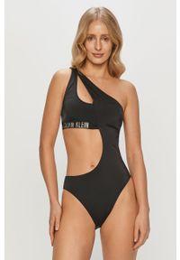 Czarny strój kąpielowy Calvin Klein z nadrukiem