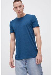 Tom Tailor - T-shirt. Okazja: na co dzień. Kolor: turkusowy. Materiał: bawełna, dzianina. Wzór: gładki. Styl: casual