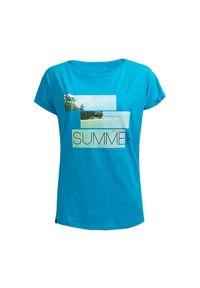 T-shirt outhorn z nadrukiem