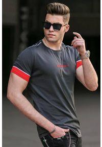 IVET - T-shirt męski NELSON GRAFIT. Okazja: na co dzień. Kolor: szary. Wzór: nadruk. Styl: casual
