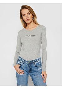 Pepe Jeans Bluzka New Virginia PL502755 Szary Slim Fit. Kolor: szary