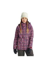 Kurtka snowboardowa damska Burton Jet Set 100811. Materiał: włókno, materiał, syntetyk. Sezon: zima. Sport: snowboard