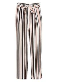 Różowe spodnie bonprix na lato, w paski