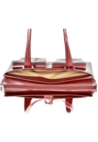 Torba na laptopa MCKLEIN Alexis 15.4 cali Czerwony. Kolor: czerwony. Materiał: skóra. Wzór: aplikacja. Styl: klasyczny, elegancki