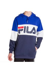 Fila - FILA MEN NIGHT BLOCKED HOODY > 688051-A436. Materiał: poliester, bawełna