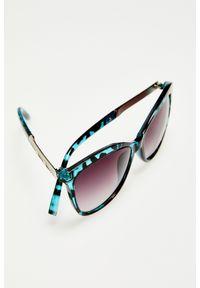 Niebieskie okulary przeciwsłoneczne MOODO prostokątne, w gradientowe wzory