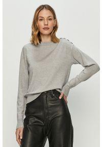 Vero Moda - Sweter. Okazja: na co dzień. Kolor: szary. Długość rękawa: długi rękaw. Długość: długie. Styl: casual