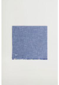 Mango Man - Chusta STRUCTUR. Kolor: niebieski. Materiał: tkanina, materiał
