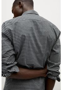 Szara koszula Mango Man długa, z klasycznym kołnierzykiem, z długim rękawem, klasyczna