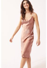 Różowa piżama Etam gładkie