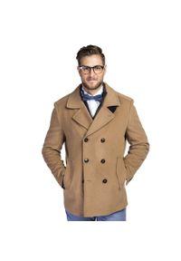 Płaszcz Giacomo Conti na jesień, elegancki, w kolorowe wzory