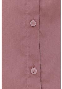 Jacqueline de Yong - Koszula. Okazja: na co dzień. Kolor: różowy. Materiał: bawełna, tkanina. Długość: długie. Wzór: gładki. Styl: casual