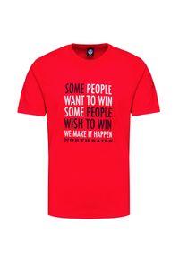 North Sails - T-shirt NORTH SAILS. Materiał: bawełna, prążkowany. Wzór: aplikacja, nadruk