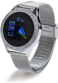 oromed - Smartwatch Oromed Oro Smart Crystal Srebrny (ORO_SMART_CRYSTAL_SILVER). Rodzaj zegarka: smartwatch. Kolor: srebrny