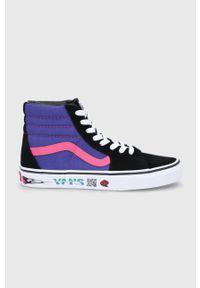 Vans - Trampki. Nosek buta: okrągły. Zapięcie: sznurówki. Kolor: czarny. Materiał: guma. Szerokość cholewki: normalna