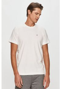 Tommy Jeans - T-shirt. Okazja: na co dzień. Kolor: biały. Wzór: aplikacja. Styl: casual