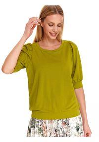 Zielona bluza TOP SECRET na co dzień, casualowa