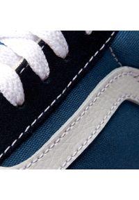 Niebieskie trampki Vans na co dzień, z cholewką, casualowe