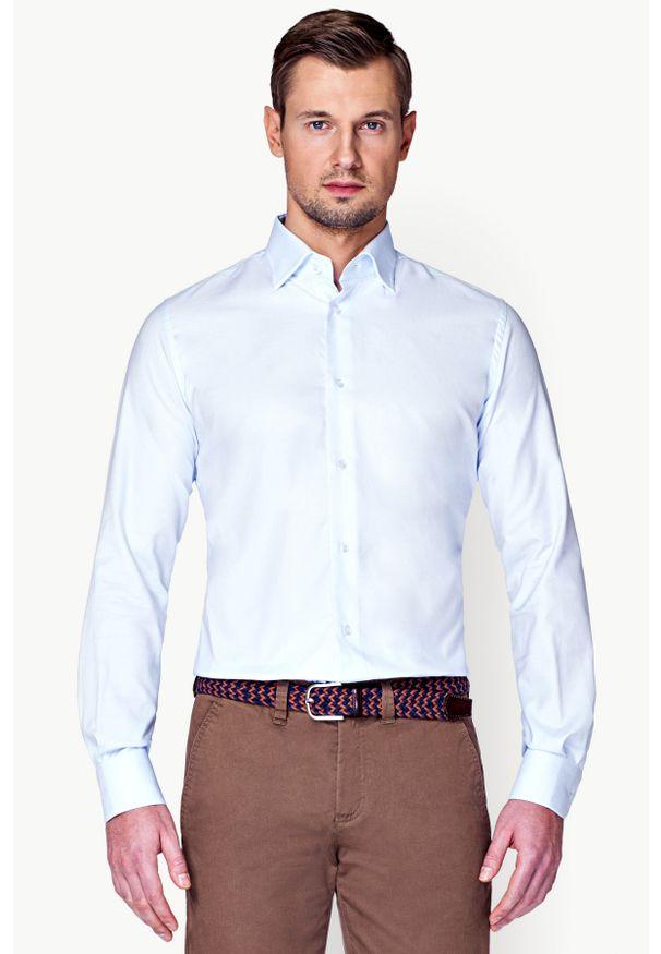 Niebieska koszula Lancerto do pracy, klasyczna
