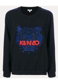 Kenzo - KENZO - Bluza z tygrysem. Kolor: czarny. Materiał: bawełna, materiał. Wzór: aplikacja. Sezon: lato, wiosna